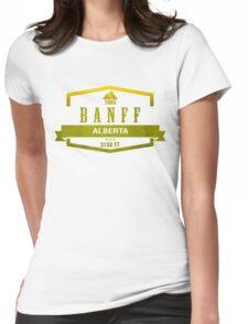 Banff Ski Resort Alberta Womens Fitted T-Shirt