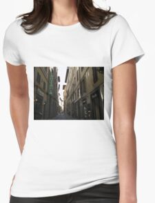 Florence Street Scene Womens Fitted T-Shirt