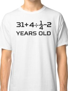 45th Birthday Algebra Equation Classic T-Shirt