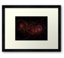 Fractal Dark Red Framed Print