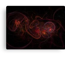 Fractal Dark Red Canvas Print