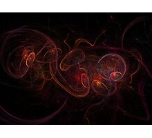 Fractal Dark Red Photographic Print