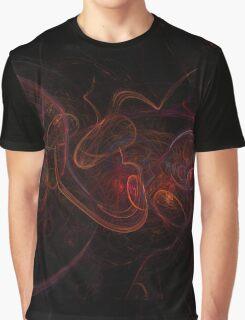Fractal Dark Red Graphic T-Shirt