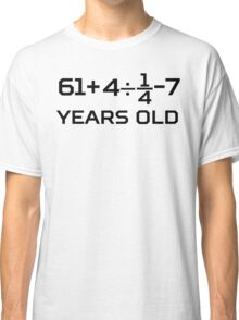 70th Birthday Algebra Equation Classic T-Shirt