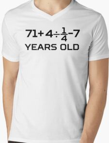 80th Birthday Algebra Equation Mens V-Neck T-Shirt