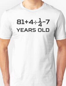 90th Birthday Algebra Equation Unisex T-Shirt