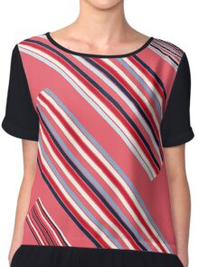 """Vintage Colorful Beautiful Stripes Vintage """"Peach"""" eco Edition. NEW Design authentic Collection. Chiffon Top"""