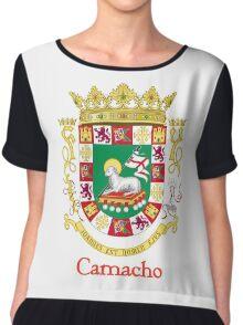 Camacho Shield of Puerto Rico Chiffon Top