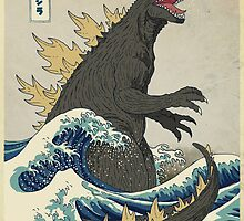 The Great Godzilla off Kanagawa by DinoMike