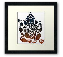 Shri Ganesha Watercolor Design Framed Print