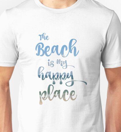 Beach Happy Place Typography Unisex T-Shirt