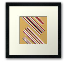 Beautiful Brown Colorful Stripes Design Collection Framed Print