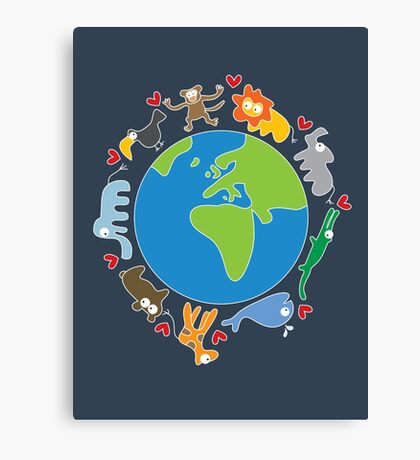 We Love Our Planet ! Canvas Print