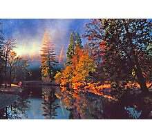 MISTY MORNING MERCED RIVER Photographic Print