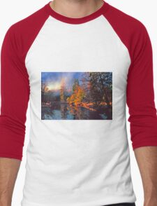 MISTY MORNING MERCED RIVER Men's Baseball ¾ T-Shirt