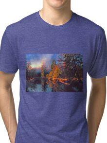 MISTY MORNING MERCED RIVER Tri-blend T-Shirt