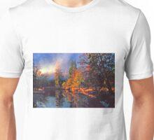 MISTY MORNING MERCED RIVER Unisex T-Shirt