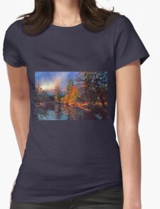 MISTY MORNING MERCED RIVER Womens Fitted T-Shirt