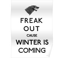 Freak out cause winter is coming Poster
