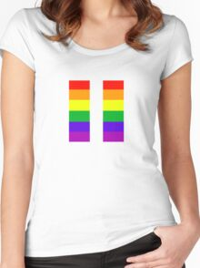 Gay/LGBTQ+ Pride Women's Fitted Scoop T-Shirt