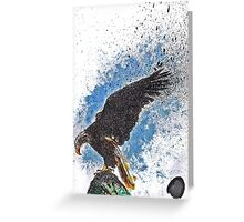 Scribble Ink Eagle Greeting Card