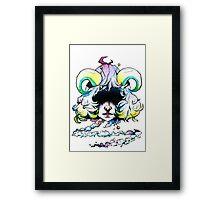 Voodoo Demon / Watercolour illustration / Demon girl Framed Print
