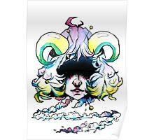 Voodoo Demon / Watercolour illustration / Demon girl Poster