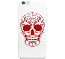 red mexican skull iPhone Case/Skin