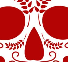 red mexican skull Sticker