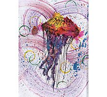 Scribble Ink Jellyfish Photographic Print