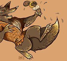 MONSTER ICE CREAMS - Chocolate werewolf by twistylemons