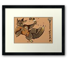 MONSTER ICE CREAMS - Chocolate werewolf Framed Print