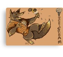 MONSTER ICE CREAMS - Chocolate werewolf Canvas Print