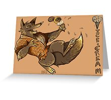 MONSTER ICE CREAMS - Chocolate werewolf Greeting Card
