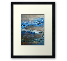 Contemporary Coastal Fine Art Painting by Holly Anderson DUNE Framed Print