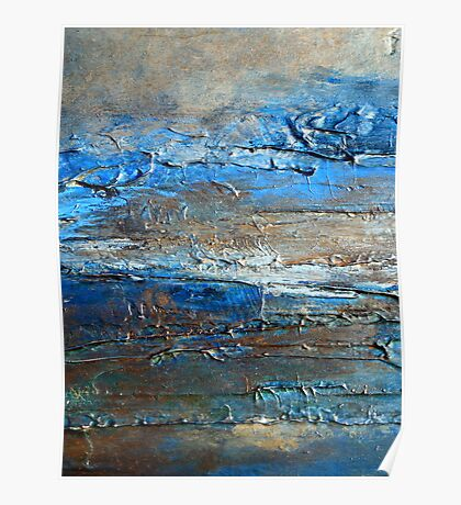 Contemporary Coastal Fine Art Painting by Holly Anderson DUNE Poster