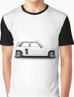Renault 5 Turbo (white) Graphic T-Shirt