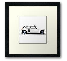 Renault 5 Turbo (white) Framed Print