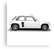 Renault 5 Turbo (white) Canvas Print