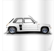 Renault 5 Turbo (white) Poster
