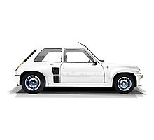Renault 5 Turbo (white) Photographic Print