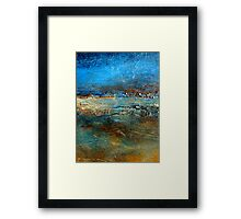 Abstract Seascape Painting Pier 39 Artist Holly Anderson Framed Print