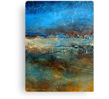 Abstract Seascape Painting Pier 39 Artist Holly Anderson Canvas Print