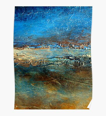 Abstract Seascape Painting Pier 39 Artist Holly Anderson Poster