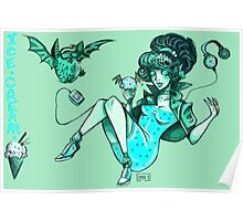 MONSTER ICE CREAMS - Mint choc chip vampire Poster