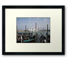 Gondolas Venice Framed Print