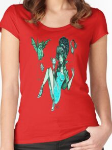 MONSTER ICE CREAMS - Mint choc chip vampire Women's Fitted Scoop T-Shirt
