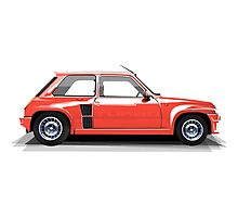 Renault 5 Turbo (red) Photographic Print