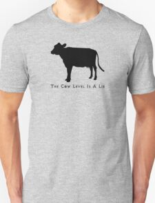 Cow Level-Black Unisex T-Shirt