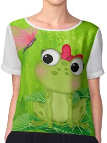 Cute Frog Girl 3 Chiffon Top